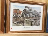 Framed National Railroad Museum print 23x19