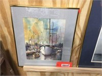 Framed decorator picture 16x18