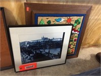 Assorted sized framed decorator pictures