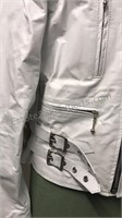 Genuine Leather white leather 2 pc suit