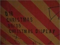 Christmas Village Set, Display, Wreath, Ornaments,