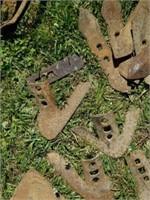 Huge Lot of Vintage Farm Tools Plow Points