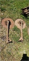 Farm tool Lot of Disc Blades and Attachments