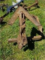 Vintage Farm Tractor Tool Plow