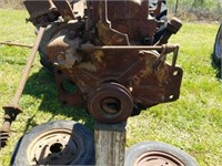Vintage Brown Tractor Not Running- Parts Only