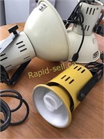Three Working Photo Lamps