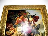 Gold Gilded Framed Floral Picture