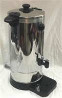 Stainless Steel 50 Cup Coffee Urn BREW & SERVE!