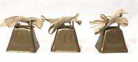 3 Small Decorative Cow Bells