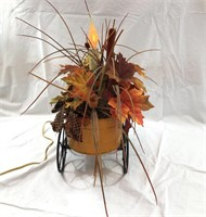 Lighted Fall Cart Table Decoration