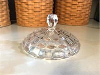 Pressed Glass Lidded Candy Dish