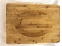 Pampered Chef Large Wood Cutting Board