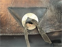 Small Leather Motorcycle Saddle Bag