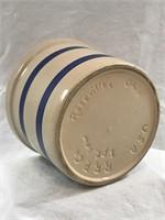 Roseville Pottery 1 Pint Low Crock NICE!