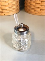 Sterling Silver/Glass Condiment Lazy Susan