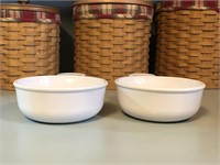 (2) Corning Ware Grab It 1/2 Quart Bowls/ Lids
