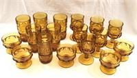Indiana Glass Amber Glass Set
