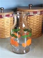 Vintage Anchor Hocking Orange Juice Set