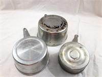 Set of 4 Aluminum Camping Pots/Dippers