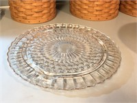 Vintage Glass Cake Plate with Cooper (?) Dome