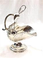 Silver Plated Zinc Alloy Scuttle Sugar Dish