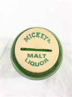 Vintage Mickeys Malt Liquor Glass Bank