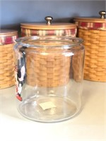 Large Anchor Hocking Mickey and Minnie Mouse Jar