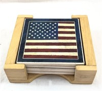 American Flag Coaster Set