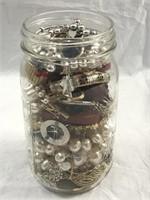 Jewelry Lot- Widemouth Ball Quart Jar FULL