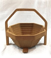 Spiral Cut Wood Basket