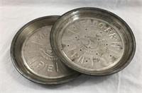 (2) Vintage Mello-Rich Mrs. Smith's Tin Pie