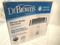 NEW Dr Browns Deluxe Bottle Sterilizer Holds 6