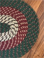 Green Braided Rug
