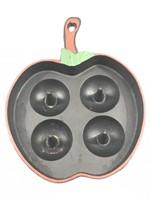 Apple Shaped Cast Iron Skillet Mold