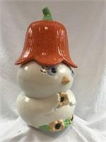 Vintage Ceramic Cookie Jar Baby Chick PeePee