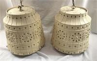 (2) Vintage LAWNWARE Retro Hanging Lights