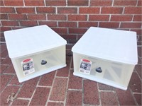 (2) Rubbermaid Large Clear Storage Drawer