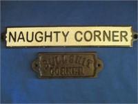 """Cast Iron """"Naughty Corner"""" And """"Bullshit Corner"""""""