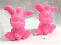 (2) Sets Of Easter Bunny Lights BLOW MOLDS