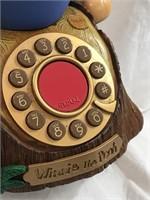 Rare Winnie Pooh & Piglet Telephone by Telemania