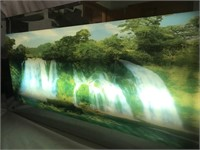 Lit Up Waterfall Picture w/Waterfall Sounds