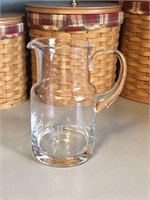 Engraved Glass Juice Pitcher