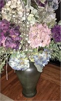 Large Vase And Artificial Flower Arrangement
