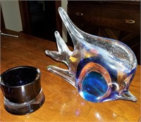 Glass Decorative Vase And Fish