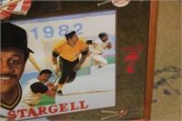 Framed Willie Stargell Print,39x24