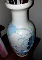 Decorative Crane Flower Vase With Artificial