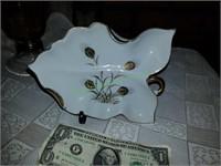 Amber Glass Vase And Lenox