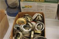 Box of Lids & Rings