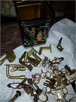 Brass House Oil Lamp Fixtures