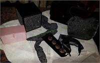 Purses, Jewelry Boxes, Vintage Buttons Etc